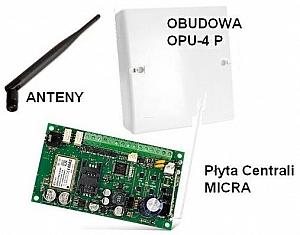 Micra Centrala alarmowa z komunikatorem GSM/GPRS + Obudowa OPU-4 P Satel