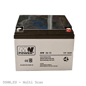 Akumulator żelowy 12V 26Ah MW Power